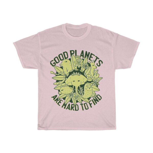 Unisex Heavy Cotton T-Shirt Good Planets Are Hard To Find II – Unisex Heavy Cotton Graphic T-Shirt Cool T-Shirts