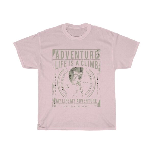 Unisex Heavy Cotton T-Shirt Adventure Life Is A Climb – Unisex Heavy Cotton Graphic T-Shirt Cool T-Shirts