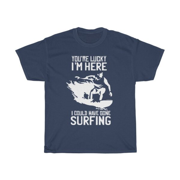 I Could Be Surfing - Unisex Heavy Cotton Grunge T-Shirt