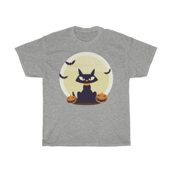 Halloween Cat II - Unisex Heavy Cotton Graphic T-Shirt