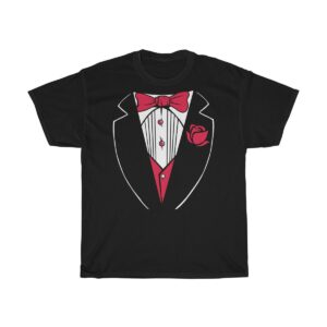 Unisex Heavy Cotton T-Shirt Tuxedo Shirt – Unisex Heavy Cotton Graphic T-Shirt Funny T-Shirts