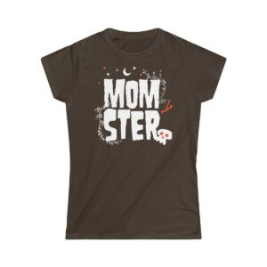 Women's Soft-Style T-Shirt Momster – Women's Softstyle Grunge T-Shirt Cute T-Shirts