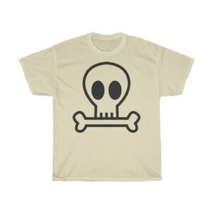 Unisex Heavy Cotton T-Shirt Skull and Bone – Unisex Heavy Cotton Cool T-Shirt Cool T-Shirts