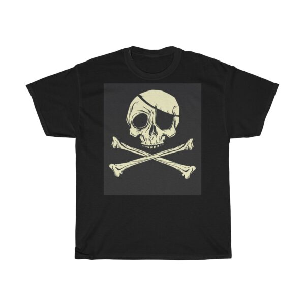 Unisex Heavy Cotton T-Shirt Skull and Crossbones – Unisex Heavy Cotton Cool T-Shirt Cool T-Shirts