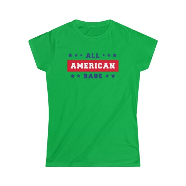 Women's Soft-Style T-Shirt All American Babe – Women's Softstyle Custom T-Shirt Cool T-Shirts