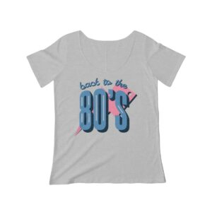 Women's Scoop Neck T-shirt Back To The 80s – Women's Scoop Neck Retro T-shirt Art T-Shirts