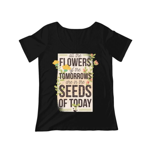 Women's Scoop Neck T-shirt All The Flowers – Women's Scoop Neck Cute T-shirt Art T-Shirts