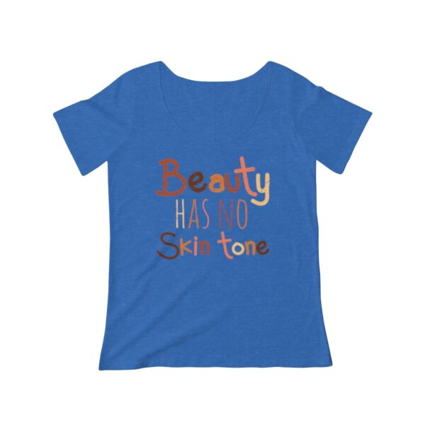 Women's Scoop Neck T-shirt Beauty Has No Skin Tone – Women's Scoop Neck Political T-shirt Art T-Shirts