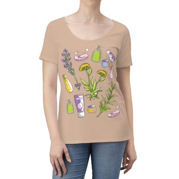 Women's Scoop Neck T-shirt Herbal Essence – Women's Scoop Neck Cute T-shirt Art T-Shirts