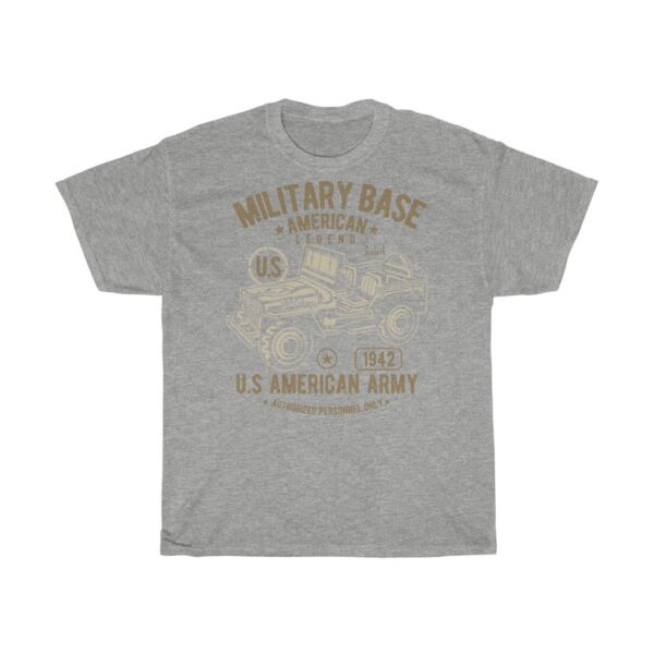 Unisex Heavy Cotton T-Shirt American Army Jeep – Cool Retro Unisex Heavy Cotton Grunge T-Shirt Art T-Shirts