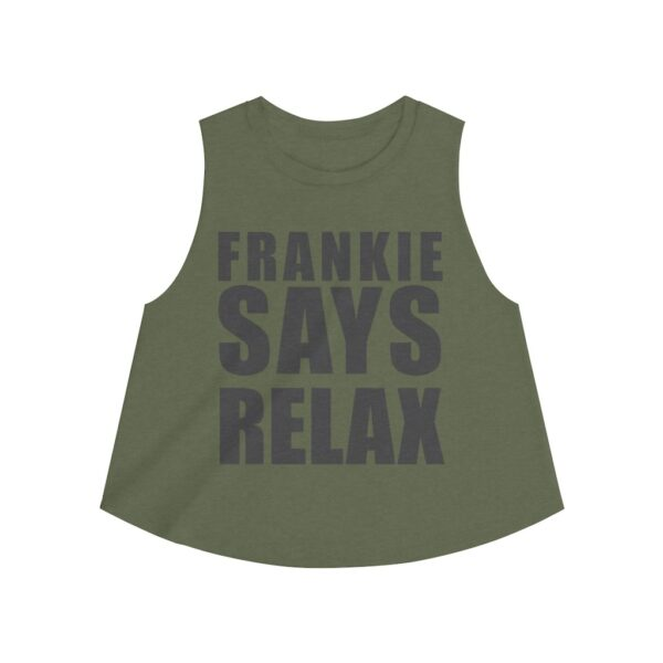 Women's Crop Top Frankie Says Relax – Women's Crop Top T-Shirt Cool T-Shirts
