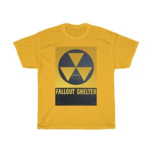Unisex Heavy Cotton T-Shirt Nuclear Fallout Shelter – Unisex Heavy Cotton Tee Grunge T-Shirt Art T-Shirts