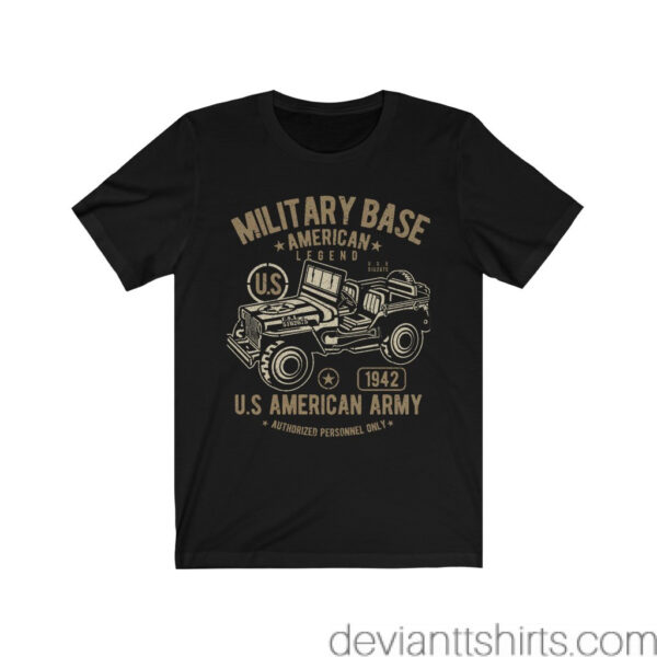 Unisex Jersey T-Shirt American Army Jeep – Unisex Jersey Tee Grunge T-Shirt Art T-Shirts