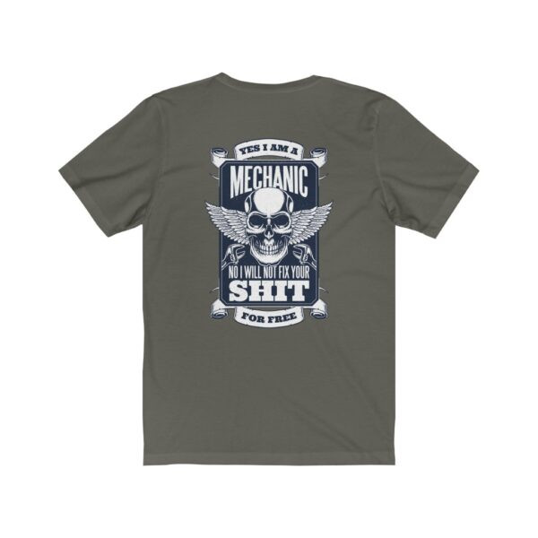 Print On Back Jersey T-Shirt Yes I Am A Mechanic – Print On Back Jersey Tee Cool T-Shirt Biker T-Shirts 22