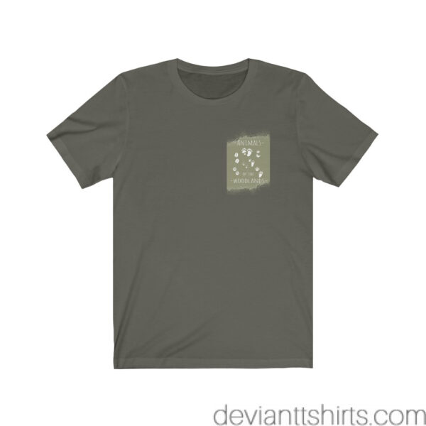 Animals Of The Woodlands – Print On Back Jersey Tee Grunge Nature T-Shirt 19