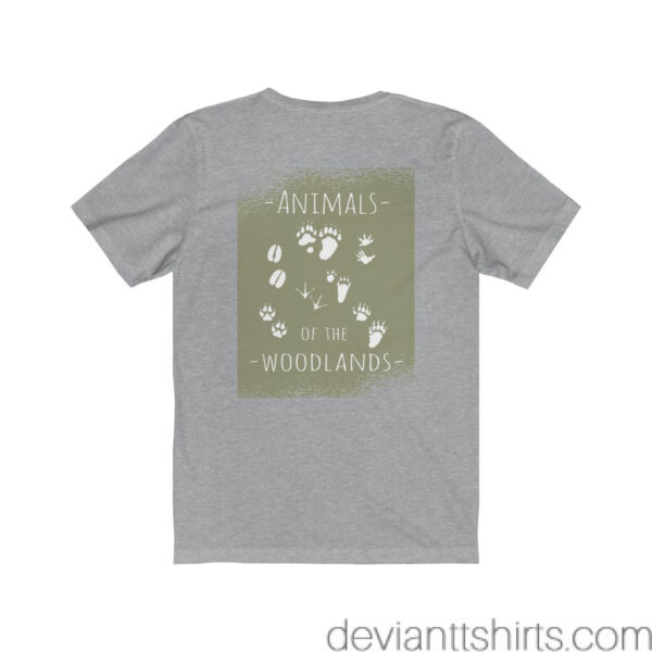 Animals Of The Woodlands – Print On Back Jersey Tee Grunge Nature T-Shirt 22