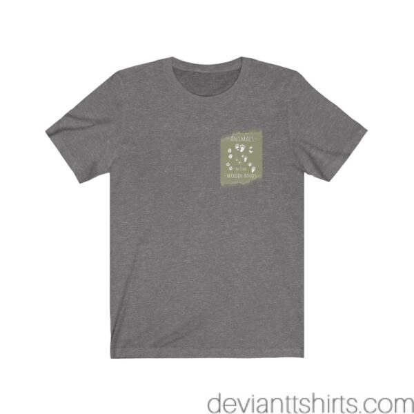 Animals Of The Woodlands – Print On Back Jersey Tee Grunge Nature T-Shirt 11
