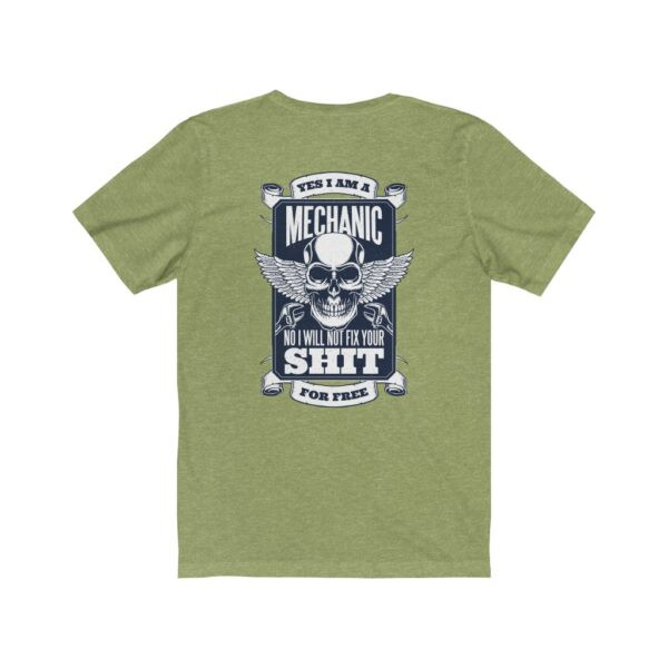 Print On Back Jersey T-Shirt Yes I Am A Mechanic – Print On Back Jersey Tee Cool T-Shirt Biker T-Shirts 18