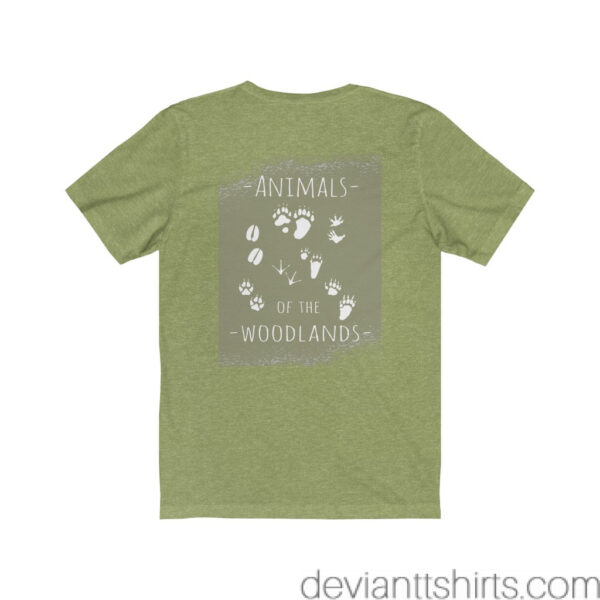 Animals Of The Woodlands – Print On Back Jersey Tee Grunge Nature T-Shirt 16