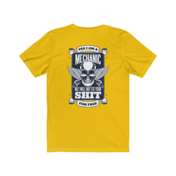 Print On Back Jersey T-Shirt Yes I Am A Mechanic – Print On Back Jersey Tee Cool T-Shirt Biker T-Shirts 20