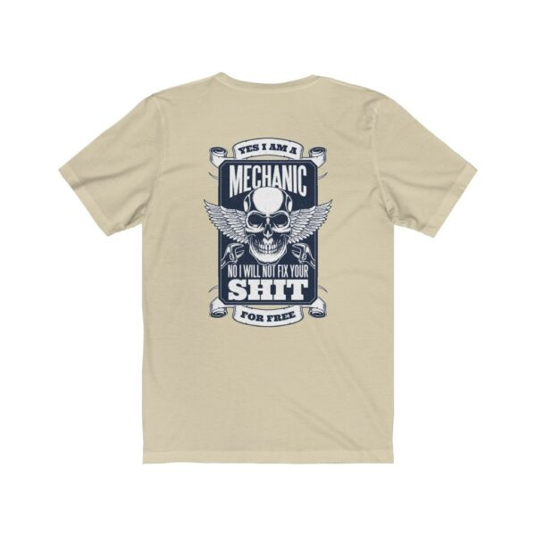 Print On Back Jersey T-Shirt Yes I Am A Mechanic – Print On Back Jersey Tee Cool T-Shirt Biker T-Shirts 12