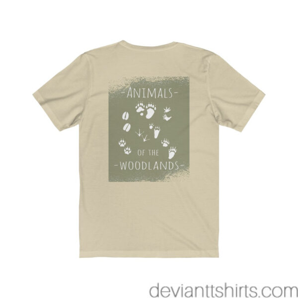 Animals Of The Woodlands – Print On Back Jersey Tee Grunge Nature T-Shirt 12