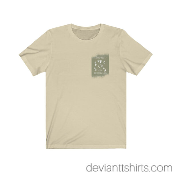 Animals Of The Woodlands – Print On Back Jersey Tee Grunge Nature T-Shirt 13