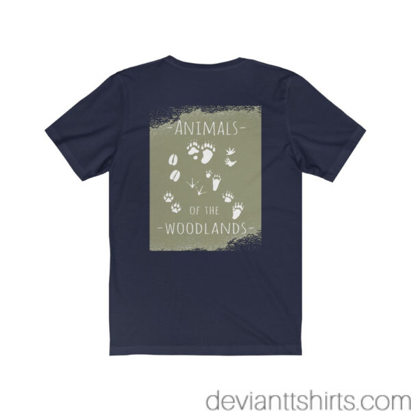 Animals Of The Woodlands – Print On Back Jersey Tee Grunge Nature T-Shirt 24
