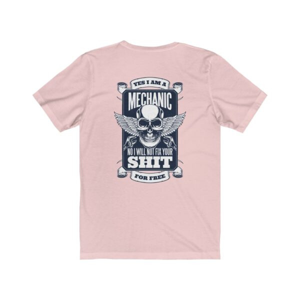 Print On Back Jersey T-Shirt Yes I Am A Mechanic – Print On Back Jersey Tee Cool T-Shirt Biker T-Shirts 8