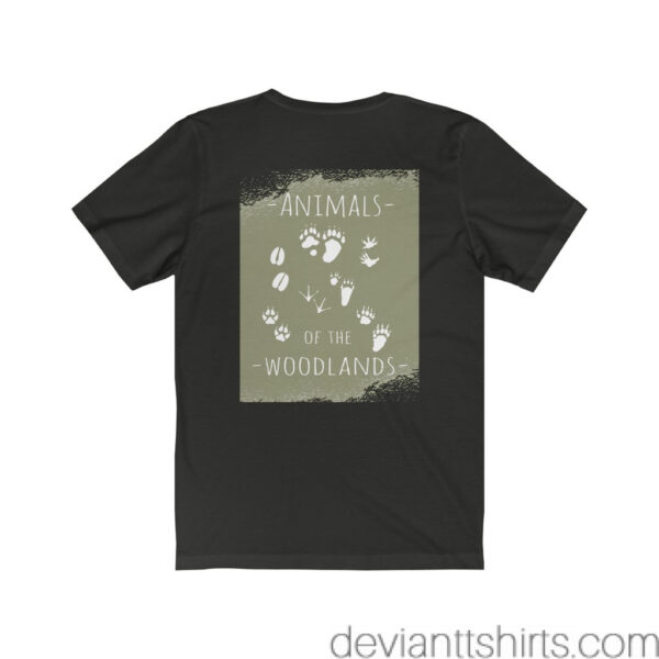 Animals Of The Woodlands – Print On Back Jersey Tee Grunge Nature T-Shirt 20
