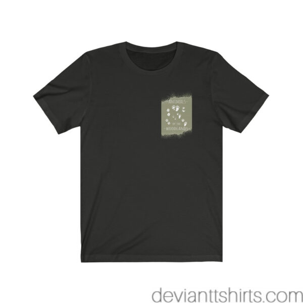 Animals Of The Woodlands – Print On Back Jersey Tee Grunge Nature T-Shirt 21