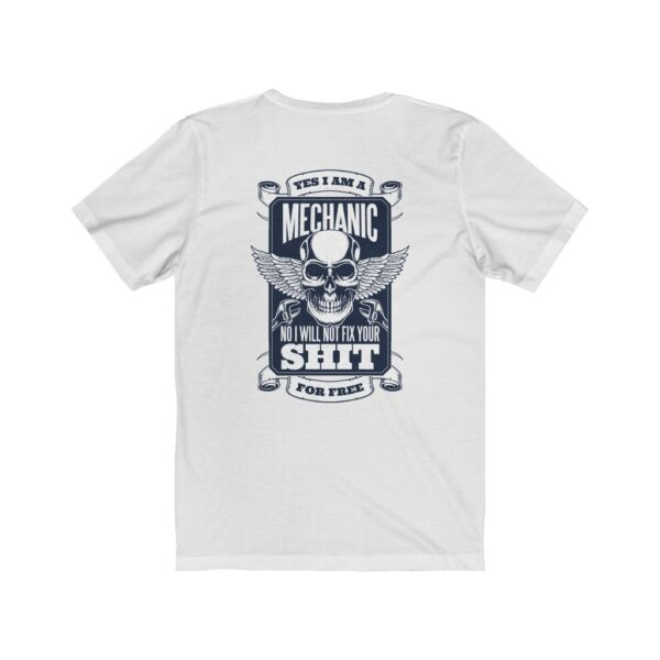 Print On Back Jersey T-Shirt Yes I Am A Mechanic – Print On Back Jersey Tee Cool T-Shirt Biker T-Shirts 4