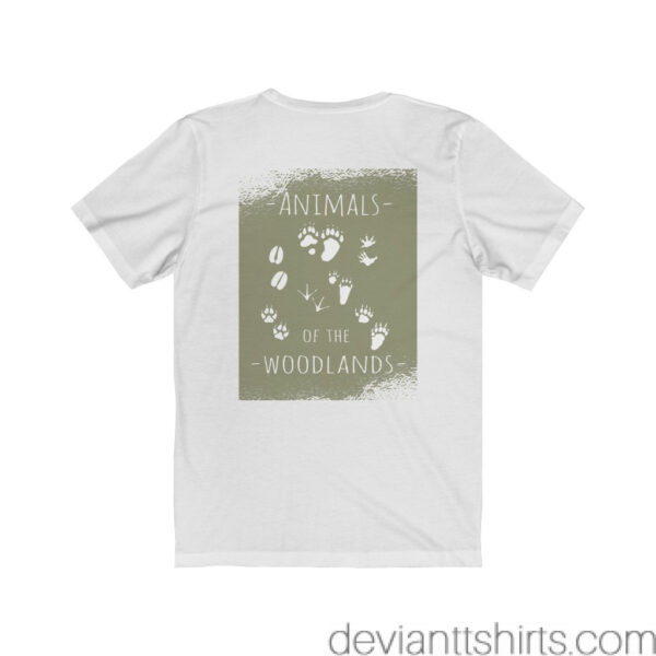 Animals Of The Woodlands – Print On Back Jersey Tee Grunge Nature T-Shirt 4