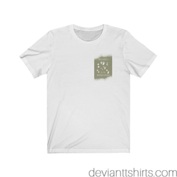 Animals Of The Woodlands – Print On Back Jersey Tee Grunge Nature T-Shirt 5