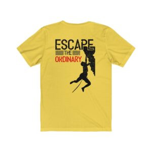 Print On Back Jersey T-Shirt Escape The Ordinary – Print On Back Jersey Tee Radical T-Shirt Art T-Shirts