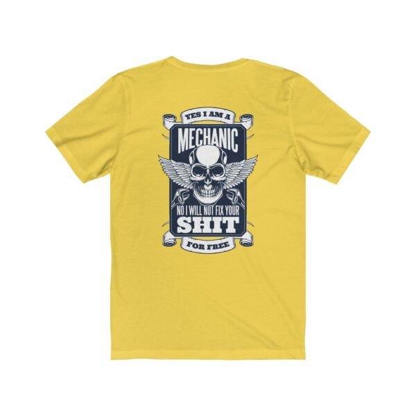 Print On Back Jersey T-Shirt Yes I Am A Mechanic – Print On Back Jersey Tee Cool T-Shirt Biker T-Shirts 16