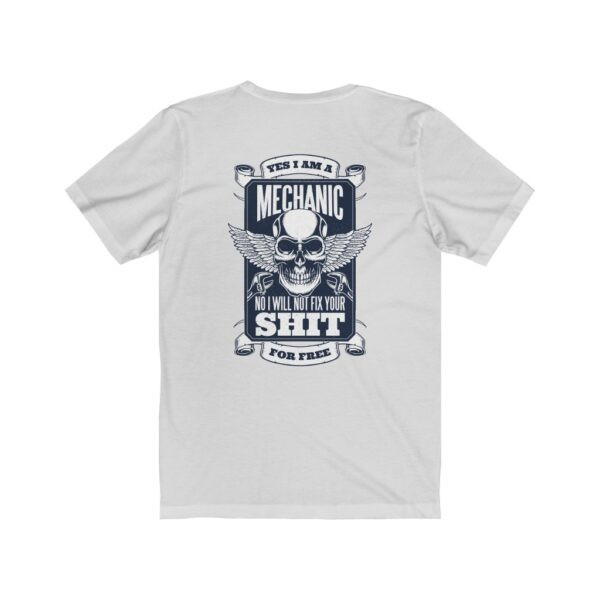 Print On Back Jersey T-Shirt Yes I Am A Mechanic – Print On Back Jersey Tee Cool T-Shirt Biker T-Shirts 6