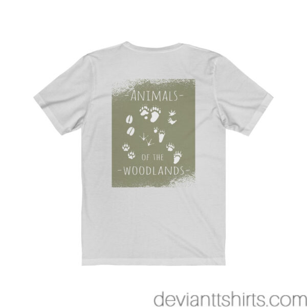 Animals Of The Woodlands – Print On Back Jersey Tee Grunge Nature T-Shirt 6