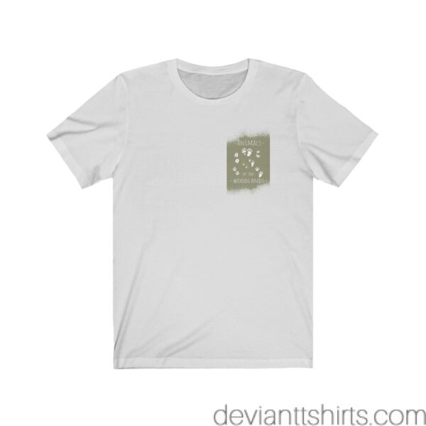 Animals Of The Woodlands – Print On Back Jersey Tee Grunge Nature T-Shirt 7