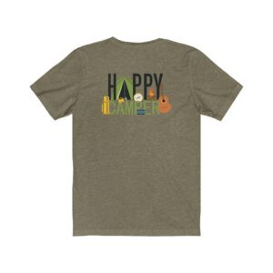 Print On Back Jersey T-Shirt Happy Camper –  Print On Back Jersey Tee Environmental T-Shirt Art T-Shirts