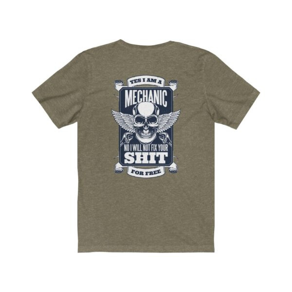 Print On Back Jersey T-Shirt Yes I Am A Mechanic – Print On Back Jersey Tee Cool T-Shirt Biker T-Shirts 14