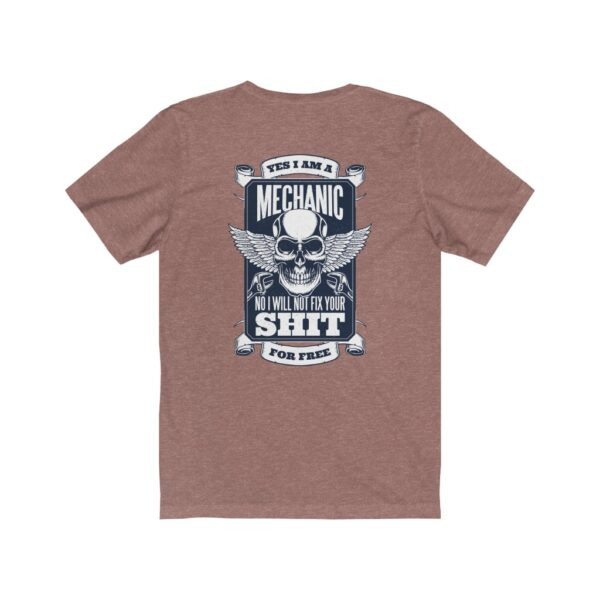 Print On Back Jersey T-Shirt Yes I Am A Mechanic – Print On Back Jersey Tee Cool T-Shirt Biker T-Shirts 10